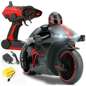 Mini Moto RC Motorcycle Electric Speed Nitro Remote Control Recharge 2.4Ghz -Red
