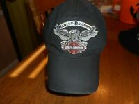 Vintage Harley Davidson Men's Black 100% Cotton Baseball Cap 2XL