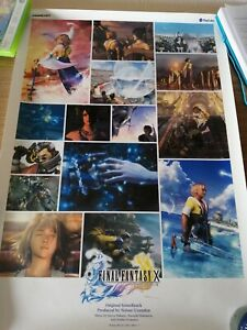 FINAL FANTASY X - ORIGINAL SOUNDTRACK OFFICIAL STORE POSTER 2001 - FROM JAPAN