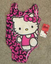 Sanrio Hello Kitty Pink Black Bathing Swim Suit Size 12M 12 Months