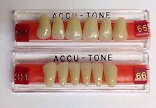 Acrylic False Teeth For Dentures. Accutone,shade66,upper & lower Anterior 3M Set
