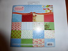 "6"" x 6"" CRAFTERS COMPANION LUXURY CHRISTMAS PAPER PAD BEBUNNI DOUBLE SIDED"