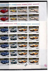 // 10X ROMANIA - MNH - FERRARI - TRANSPORT - CARS - 1999