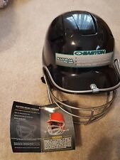 New Easton Batting Helmet w/Face Mask + Chinstrap - Black - Fits 6 7/8 to 7 1/2