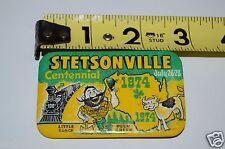 Vintage Stetsonville Wisconsin Centennial Little Black Deer Creek 1874 1974 Pin