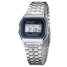 Hombre De Mujer Acero Inoxidable Informal Reloj Moda Digital Empresa Watch