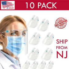 10 PCS Safety Glasses Face Shield Reusable Full Face Clear Visor Face Covering