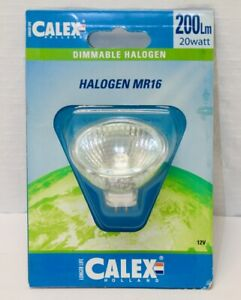 Calex (Holland) Dimmable Halogen MR16 Bulb  (20W 12V 200Lm) / New Old Stock