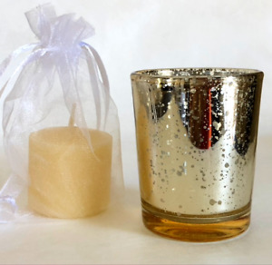 Speckled Gold Votive & Vanilla Candle (10 Pack)