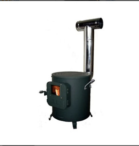YAMAZEN Honma Seisakusyo Cooking Stove Black Wood Burning Fireplaces