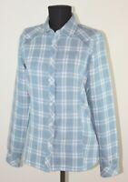 Jack Wolfskin womens blue check outdoor active wear shirt Size UK 10 / EU S