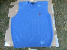 Ralph Lauren Polo Golf Sweater Vest XL Royal Blue Excellent Condition