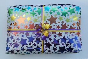 Pass The Parcel METALLIC STARS UNISEX GIRLS BOYS 8/10/12/14/16 layers+main prize