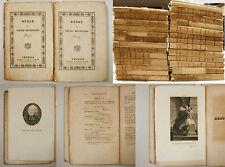 Metastasio OPERE Venezia Antonelli 1832 1835 tavole incise Letteratura Teatro