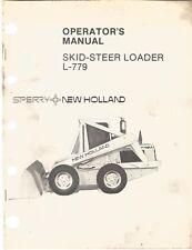 New Holland L 779 Skid Steer Loader Operators Manual