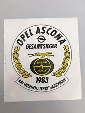 Opel Ascona B 400 Safari Rally 1983 Gesamtsieger Vatanen/Harryman Aufkleber