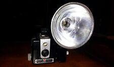 "Vintage 1950""s Eastman KODAK Brownie HAWKEYE Flash Model Box Camera! V.G. shape"