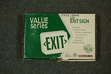 EXITRONIX LED EXIT SIGN VEX/U/BP/WB/WH VEXUBPWBWH