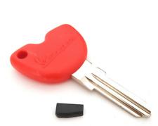Nuevo Rojo Sin Cortar en Blanco Clave Para Gilera, Vespa, Piaggio. + chip transponder