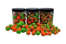 Bi-colour FLUO Pop Ups NARANJA/Verde 1,0kg 20mm (neutral)