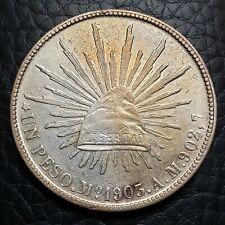 Silver 1903 Mo AM Mexico Peso | AU Condition