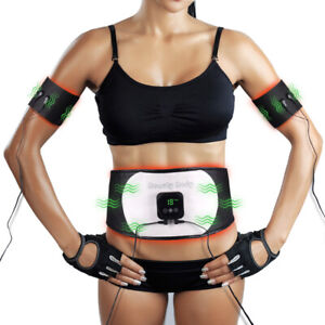 EMS Ab Stimulator Electronic Abdominal Belt Muscle Toning Waist Trainer Tool NEW