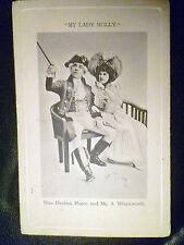 1904 Theatre Postcard- My Lady Molly: Decima Moore & A. Winckworth (+Stamp)