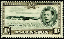 ASCENSION SG44, 1s black & sepia, LH MINT. Cat £19. PERF 13½.