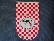 6 oven glove fabric pieces - COW - Red Check Background
