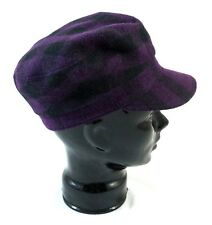 """Burberry """"Edith"""" Checked Purple Cotton Military Cap S BNWT 100% Authentic"""