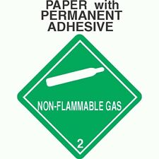L-305 Non-Flammable Gas Class 2.2 Paper Labels D.O.T. 4X4 (ROLL OF 500)