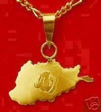 Real 10K yellow Gold Allah Islamic Charm MAP AFGHANISTAN Islam Jewelry pendant