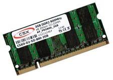 2gb RAM 800 MHz ddr2 para Dell Latitude 13 2100 d520 d530 de memoria SO-DIMM