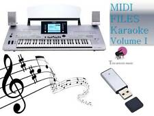 MIDI File Karaoke USB stick for Tyros 3 Vol 1