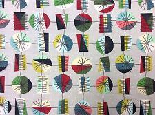 MD327 Atomic Sputnik Retro Mid Century Modern MCM Style Cotton Quilt Fabric