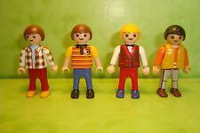 Playmobil : Lot de 4 enfants playmobil /  figure child personnage garçons
