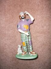 Vintage Emmett Kelly Jr Flambro Collection Clown Golf Club & Dog Free Shipping