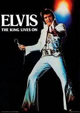 MUSIC POSTER Elvis Presley The King Lives On