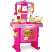 KITCHEN PINK PLAY SET COOKING PRETEND PLAY TOY SOUND LIGHTS GIFT FOR CHILDREN 3+