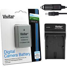 EN-EL14a Batería/Cargador Kit para Nikon D5600 D5500 D5300 D5200 D3400 D3300