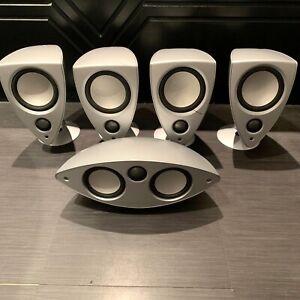 Mordaunt Short Genie Home Cinema 5 Speaker System & Stands (Excluding Subwoofer)