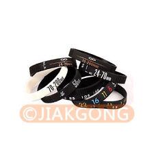 DSLRKIT Photographer silicone bracelet Wristbands SET 8pcs/Stop Lens Zoom Creep