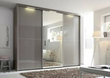 NOLTE MOBEL MARCARTO SLIDING WARDROBE BEDROOM GRAPHITE WHITE GLASS FITTED FREE