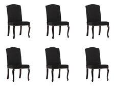 6x Chesterfield Design Polster Stuhl Garnitur Stühle Textil Sitz Komplett Set