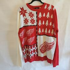 NHL Detroit Red Wings  Ugly Christmas Sweater  Hockey New Sz XLarge