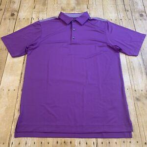 FootJoy FJ Men's Abstract Purple Polo Golf Shirt Medium