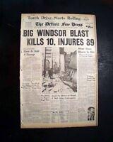 WINDSOR, ONTARIO Metropolitan Department Store EXPLOSION Disaster 1960 Newspaper