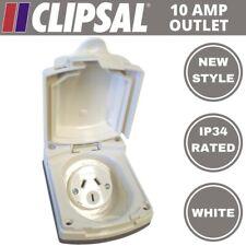 Clipsal Style Caravan RV 10amp 240v Power Outlet White