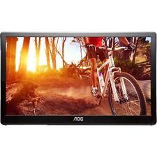 "AOC - 15.6"" Widescreen Flat-Panel USB 3.0-Powered Portable LED Monitor - Glos..."