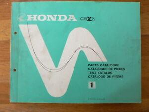 HONDA CBX-Z CM SIX 1000 PARTS CATALOGUE 1 1978,TEILE-KATALOG,CATALOGUE DE PIECES